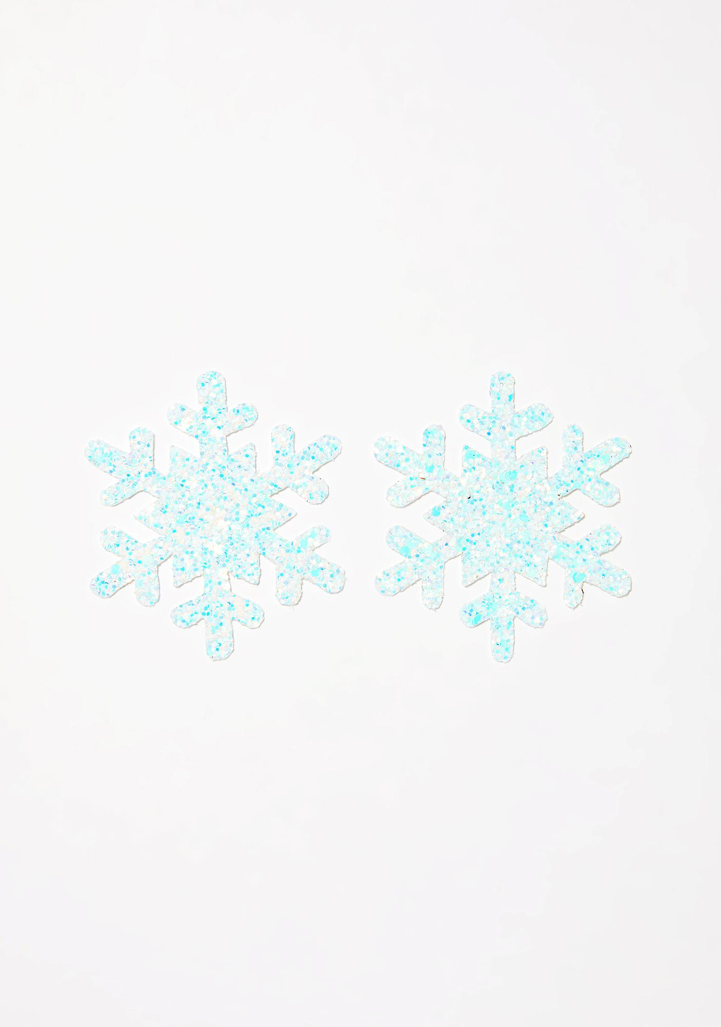 Neva Nude Fairy Dust Snowflake Pasties