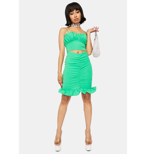 Money Honey Ruched Skirt