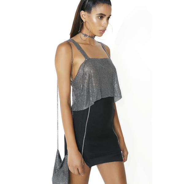Fraiser Sterling After Party Rhinestone Tank