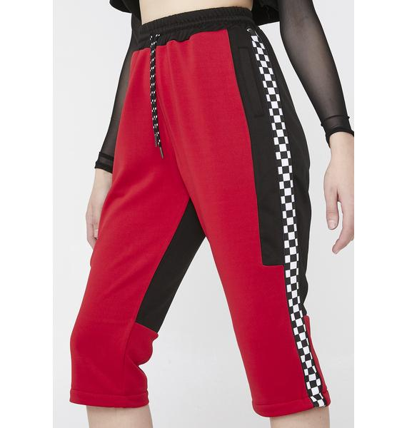 Nana Judy Checkered Stripe Joggers