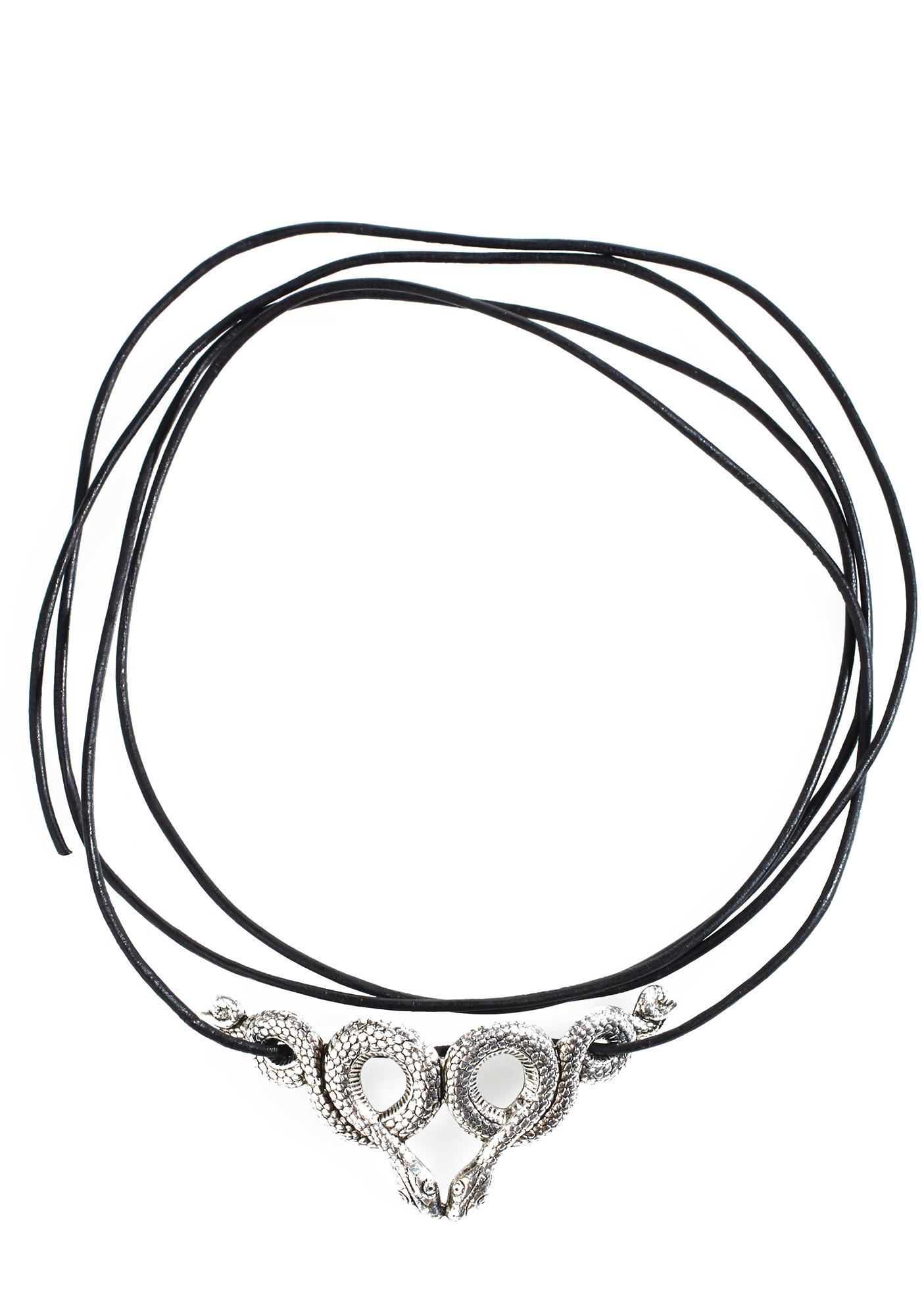 Regal Rose Samara Leather Wrap Choker
