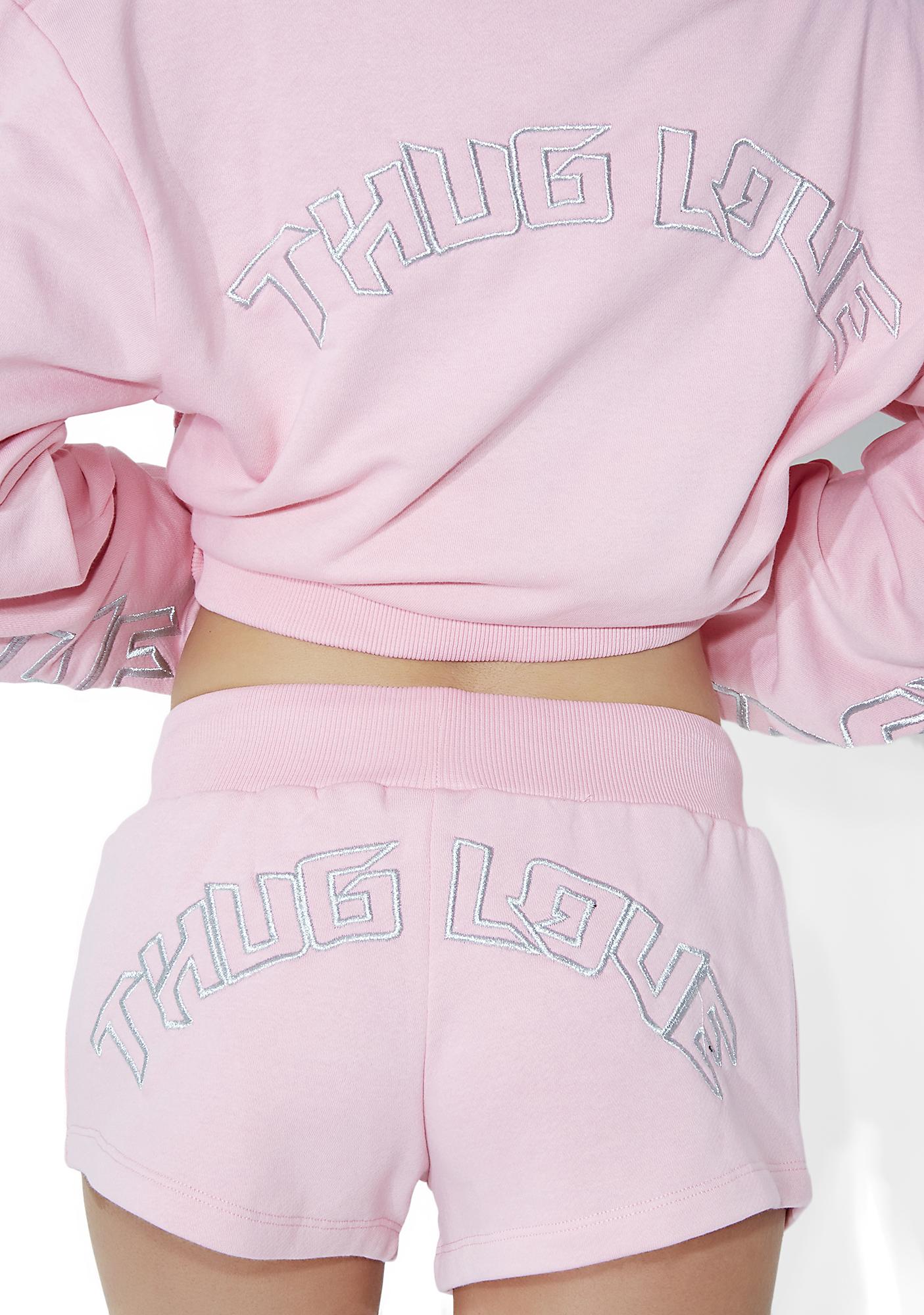 Illustrated People Thug Love Mini Shorts