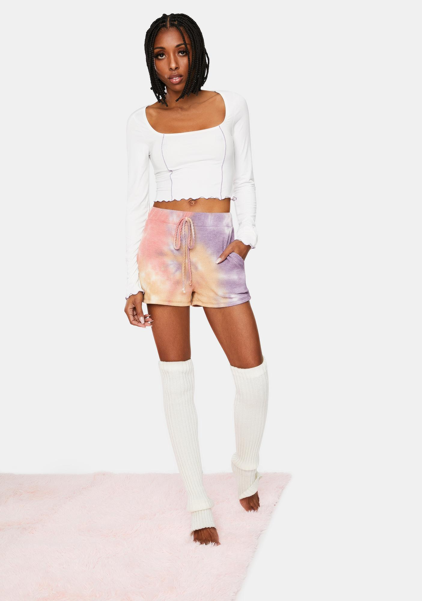 Chill Yes No Maybe Long Sleeve Crop Top