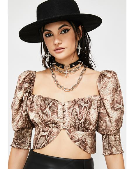 Venom Country Snakeskin Blouse