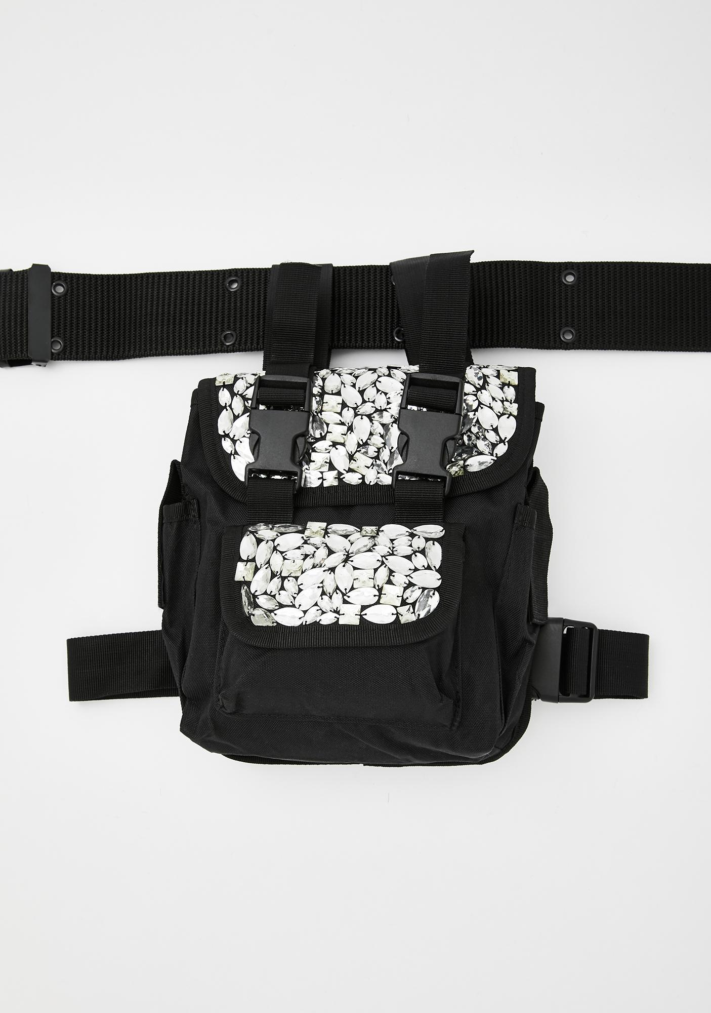 SHRINE Jeweled Bum Bag & Belt