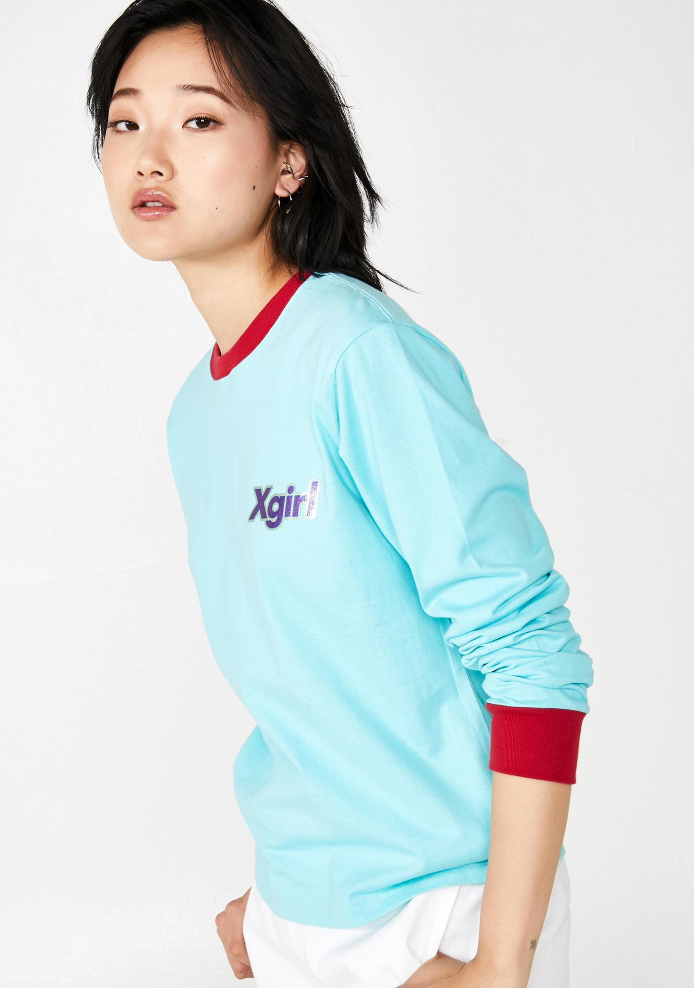 x-Girl Sticker Logo Long Sleeve Tee