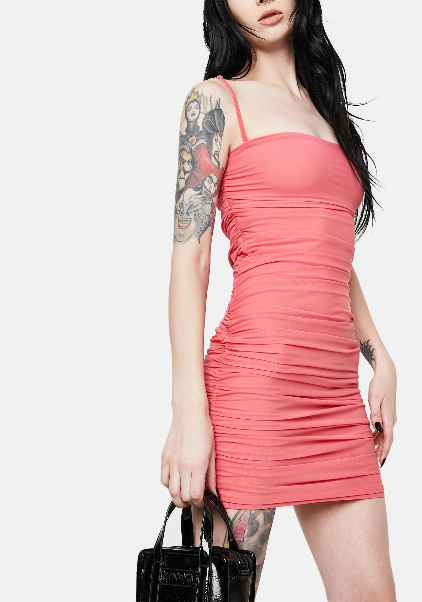Kiki Riki Pink Stone Cold Cut Out Cami Dress