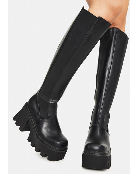 Selfish Knee High Boots