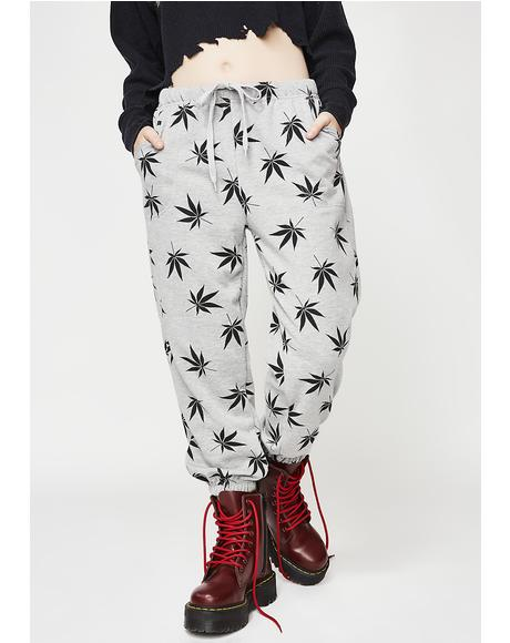 Smoke N' Chill Leaf Joggers