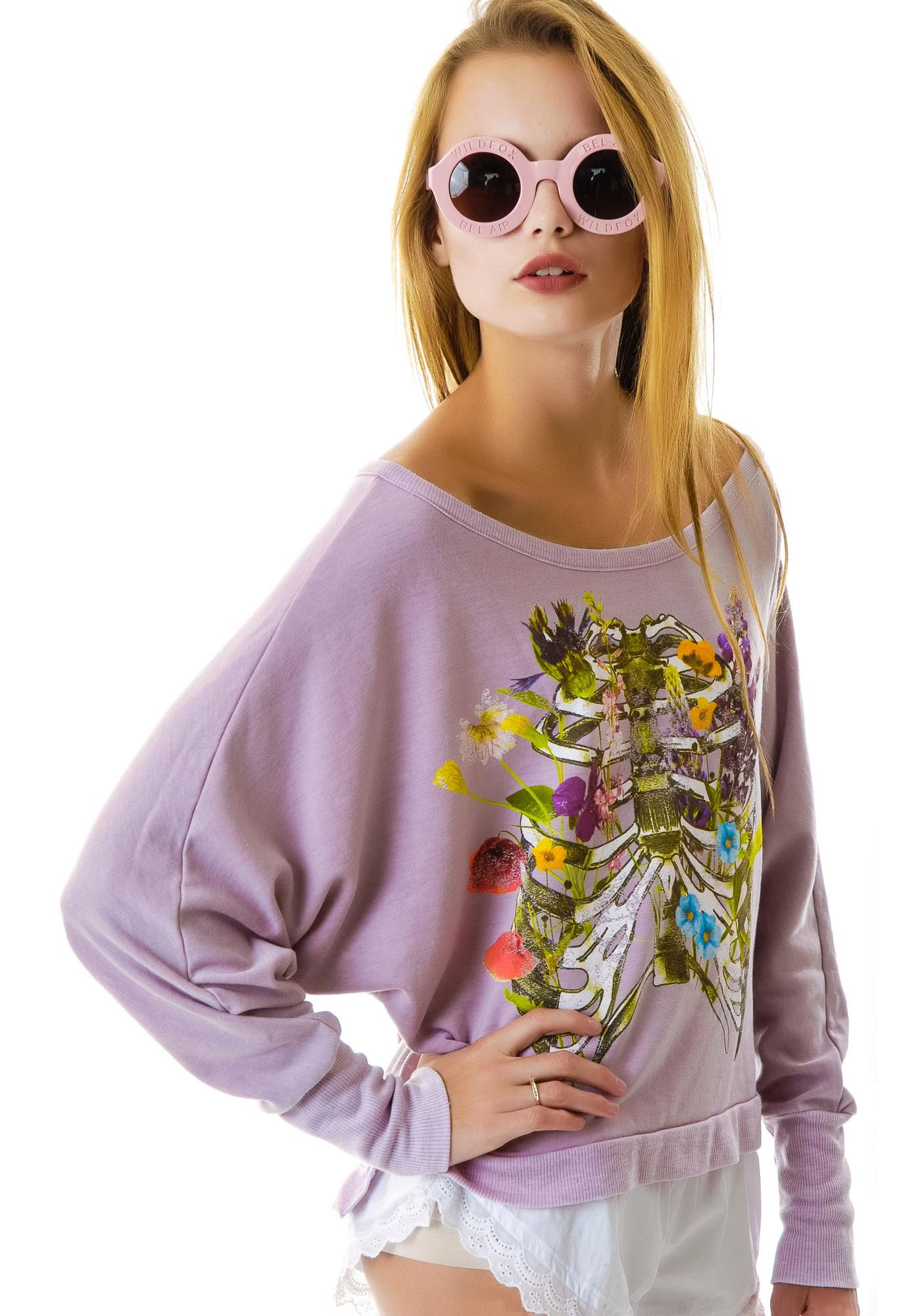 Chaser Cage of Flowers Fleece