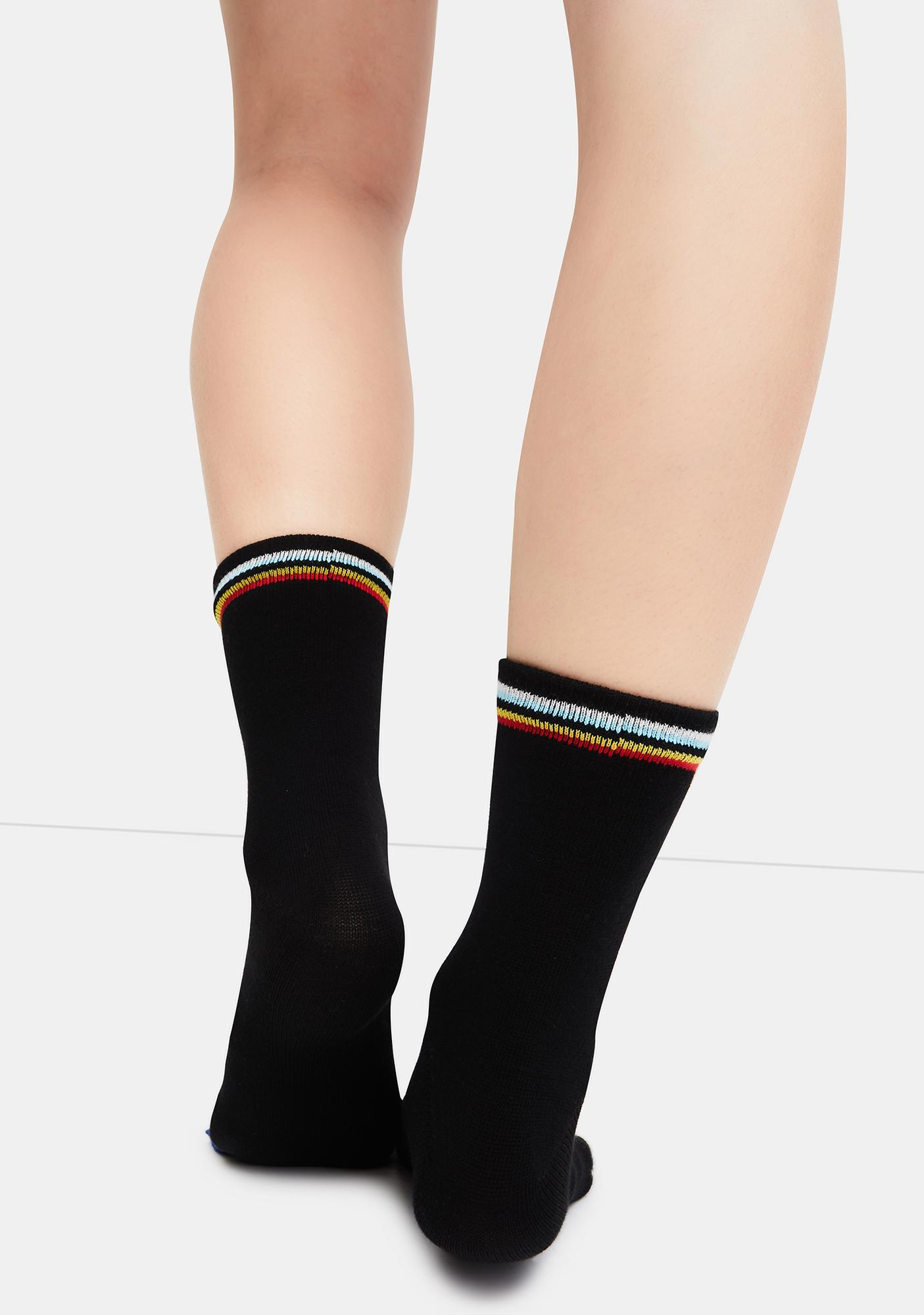 Turn That Frown Toe Socks