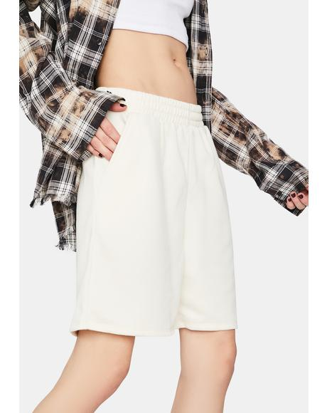 Ivory Lazy Sunday Lounge Shorts