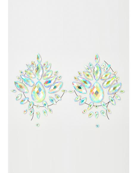Iridescent Illusion Gem Pasties
