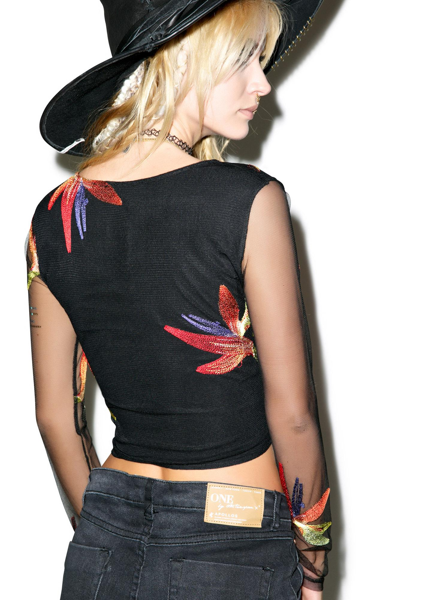 For Love & Lemons Birds Of Paradise Crop Top