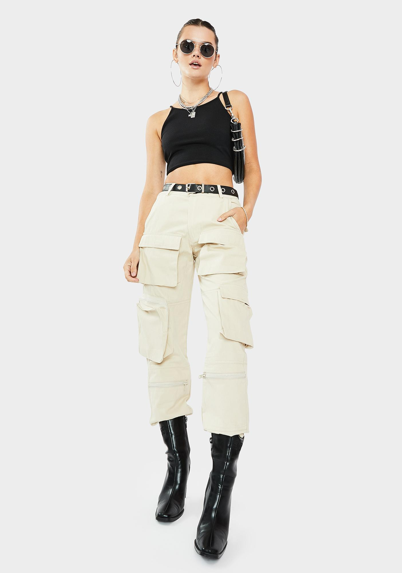 THE KRIPT Tan Slayer Cargo Pocket Pants