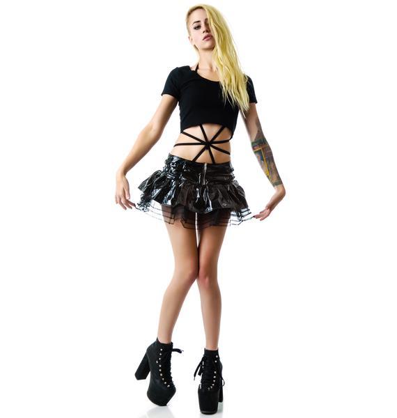 Hell Bunny Mercy PVC Mesh Tutu Skirt