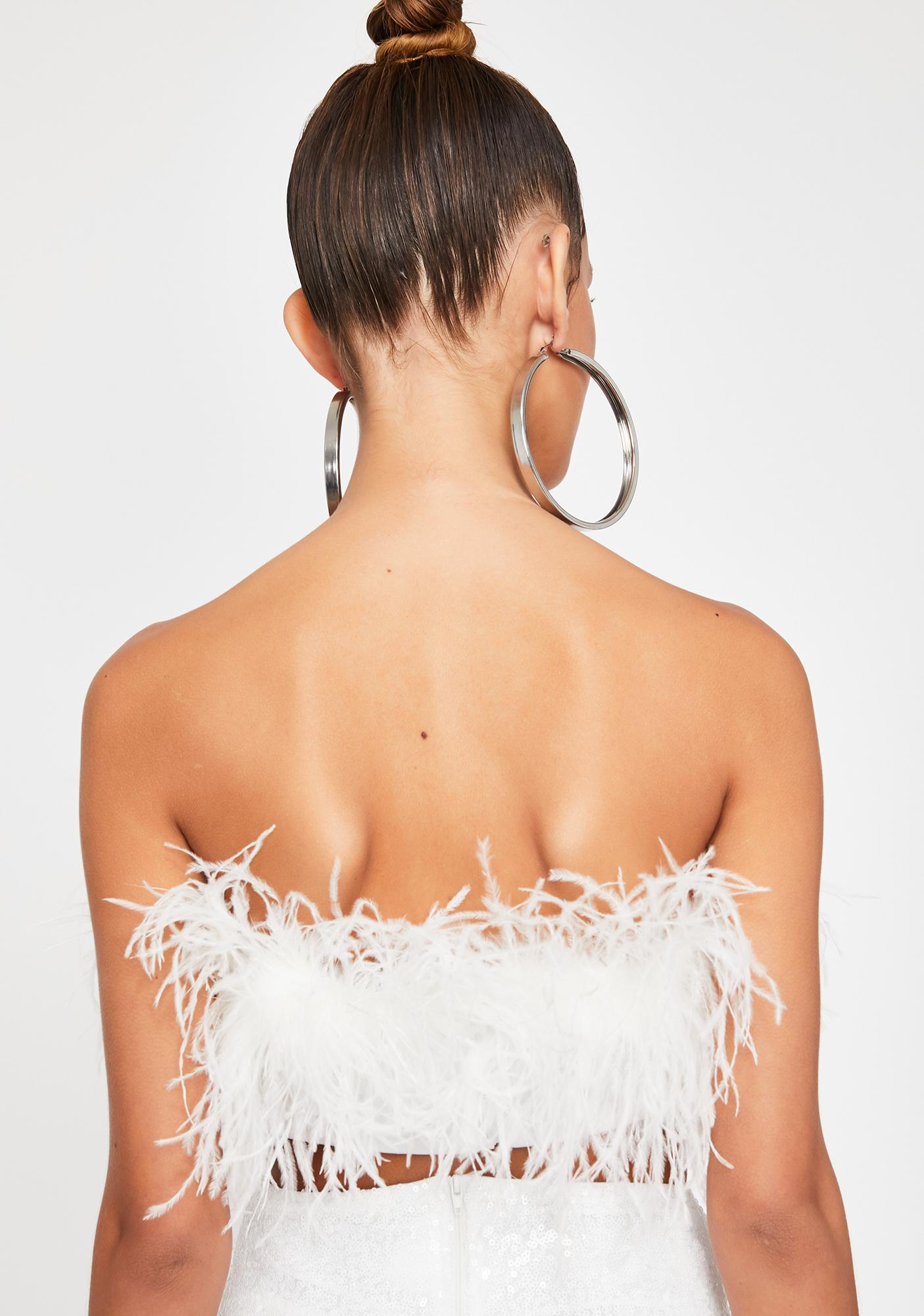 Prissy Much Marabou Top