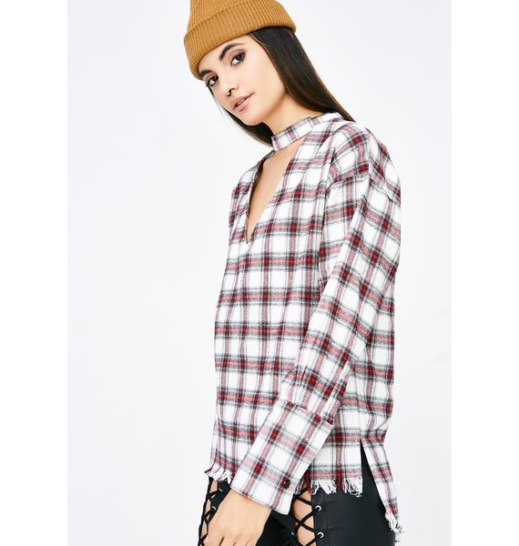Home Schooled Plaid Top
