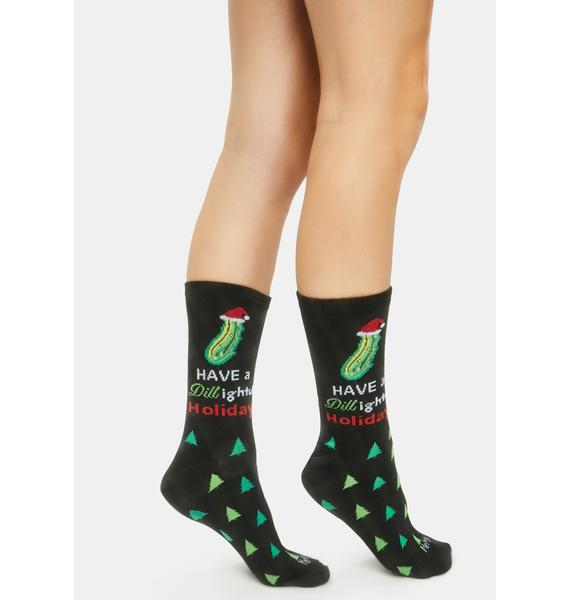 MeMoi Dill Lightful Holiday Crew Socks