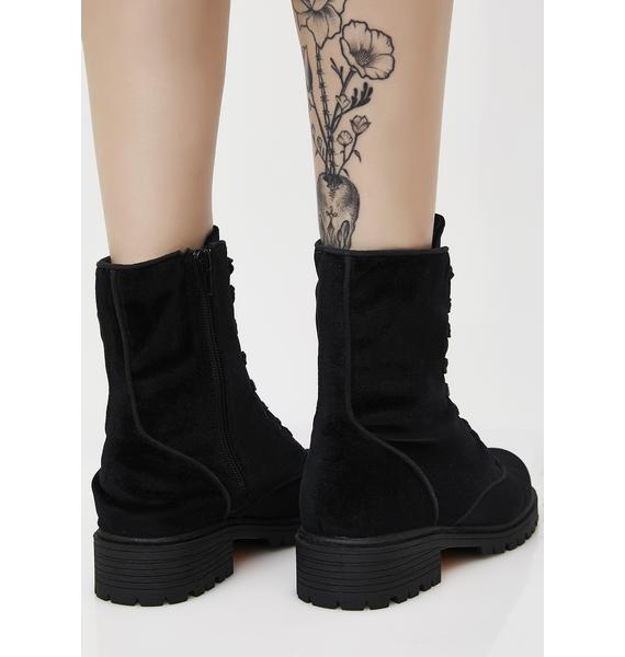 Unlocked Love Combat Boots