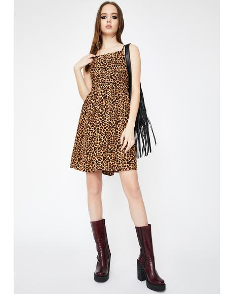 Leopard Cami Smock Dress