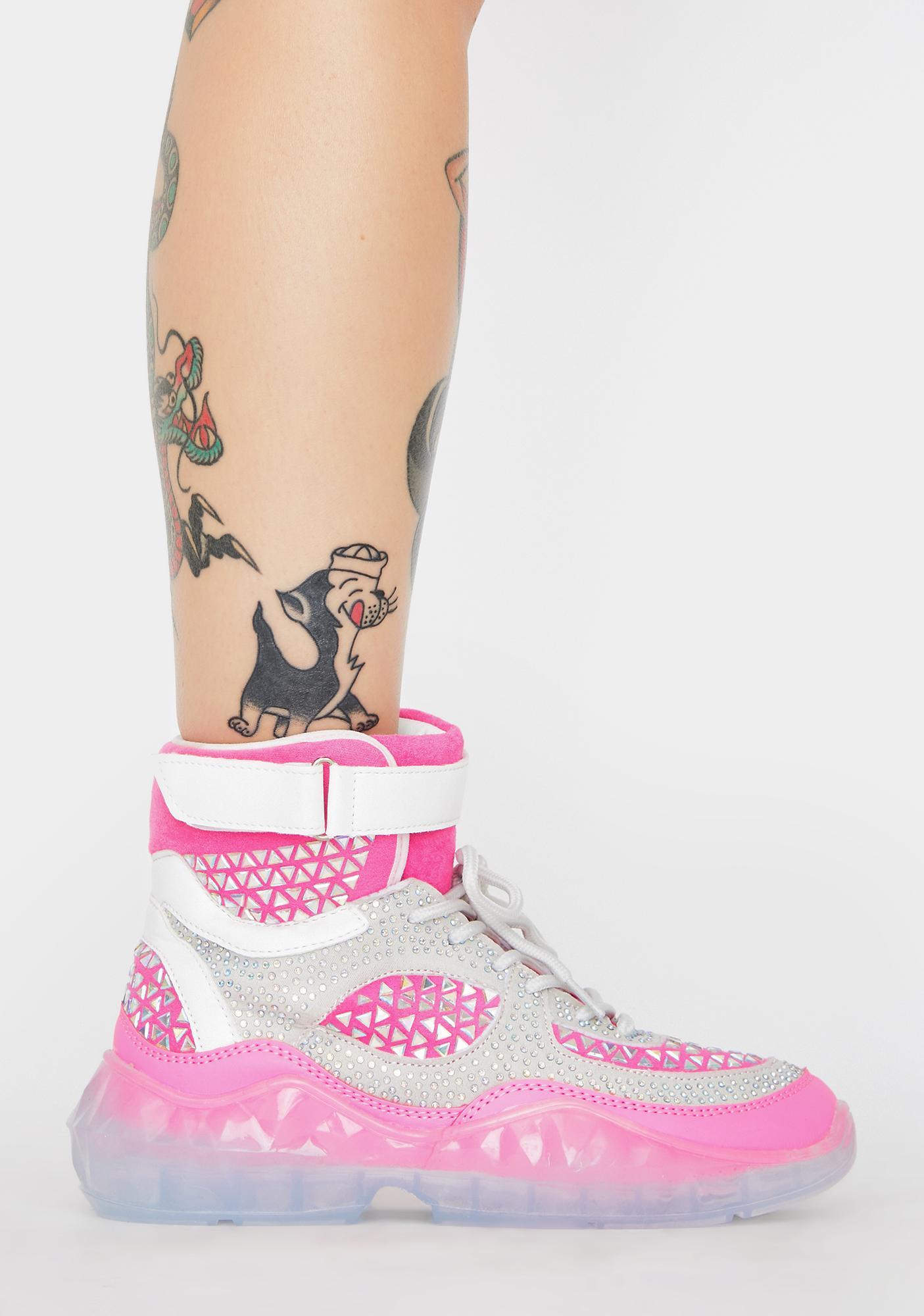 Gridlocked High Top Sneakers