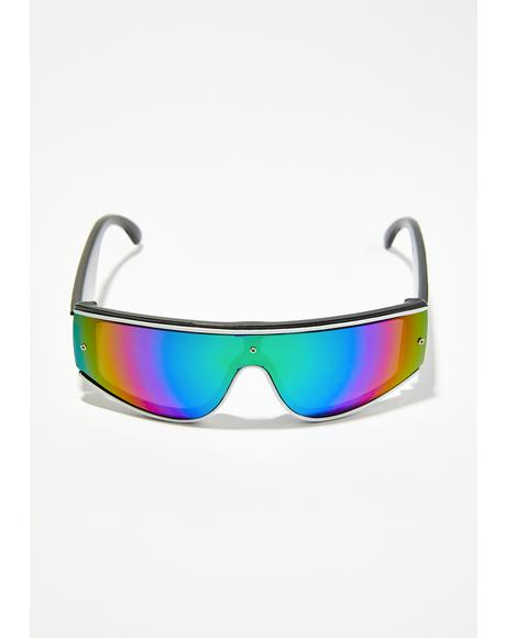 Future Funk Shield Sunglasses