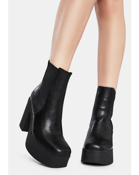 Pick N Mix Platform Ankle Boots