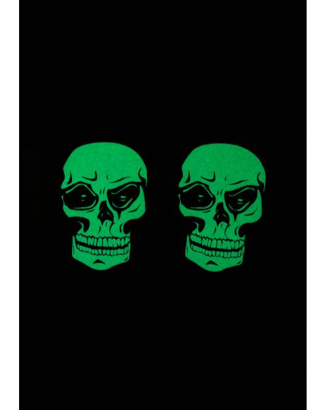 Glow In The Dark Skull Pasties