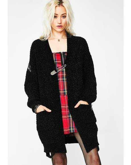 Antisocial Climber Safety Pin Cardigan