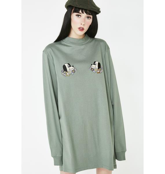 Lazy Oaf Puppies T-Shirt Dress