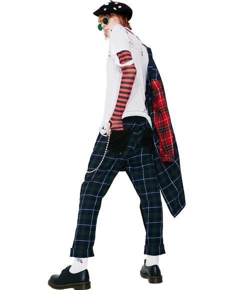 Denim Tartan Pants