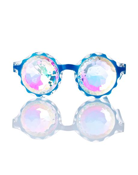 Crown Blue Kaleidoscope Glasses