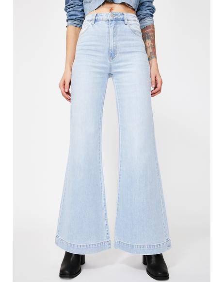 Tash Blue Eastcoast Flare Jeans
