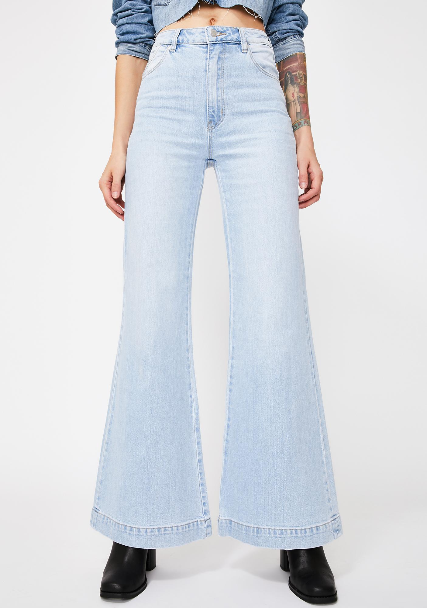 Rollas Tash Blue Eastcoast Flare Jeans