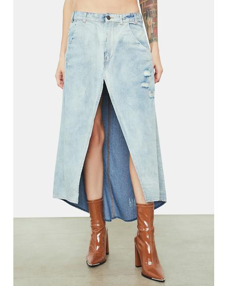 Back In The Day Denim Circle Skirt