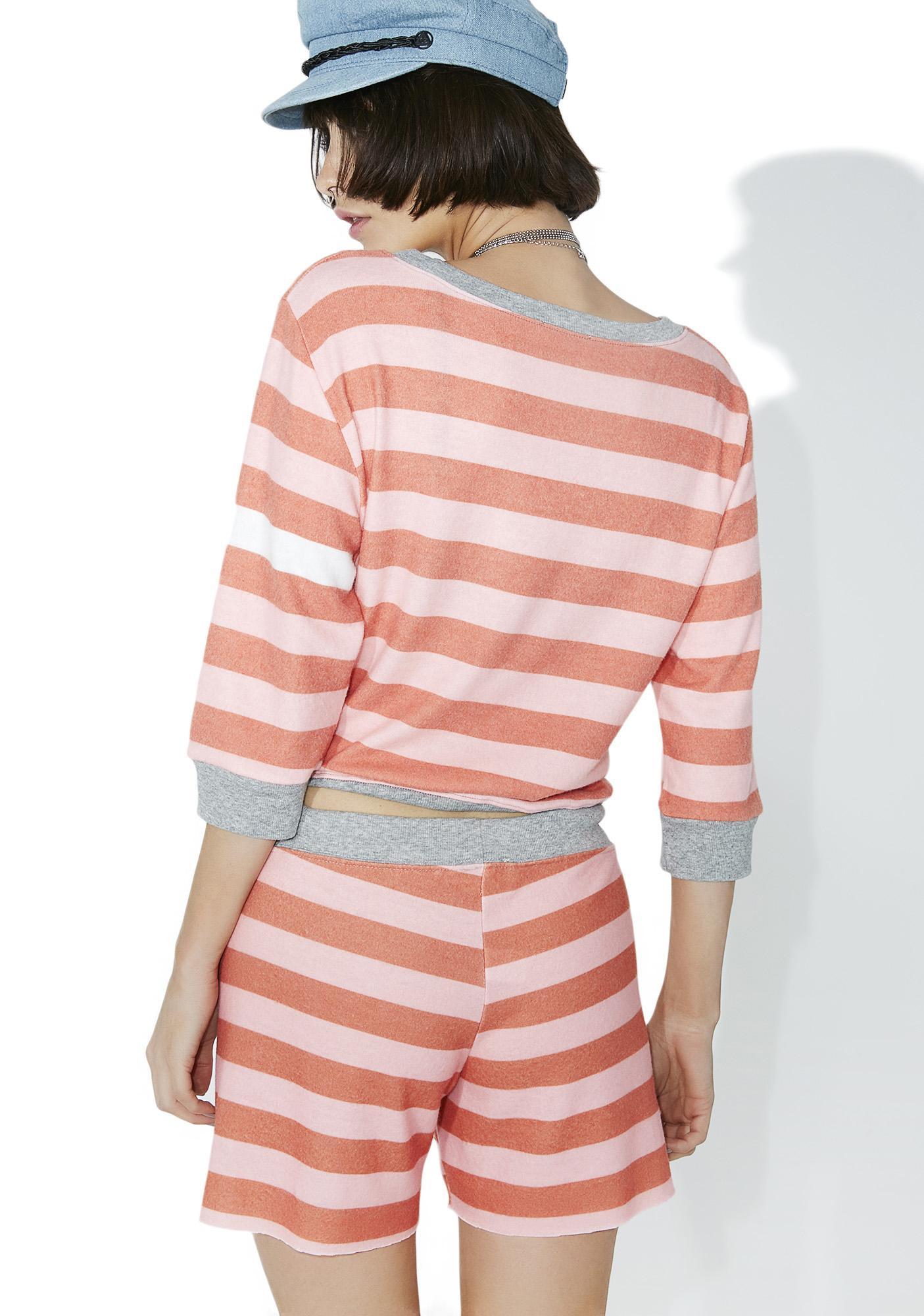 All Things Fabulous White Stripes Cozy Shorts