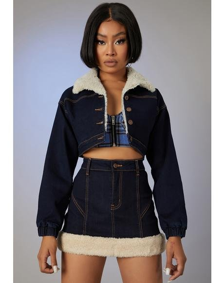 Attention Seeker Denim Mini Skirt
