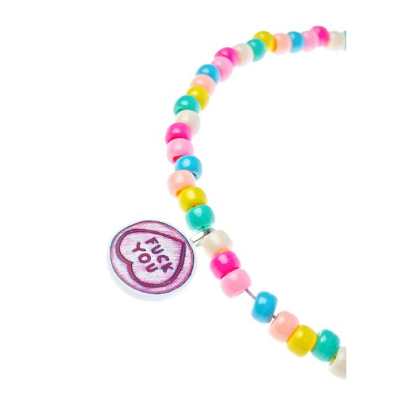 Twisted Bitches Fuck You Candy Choker