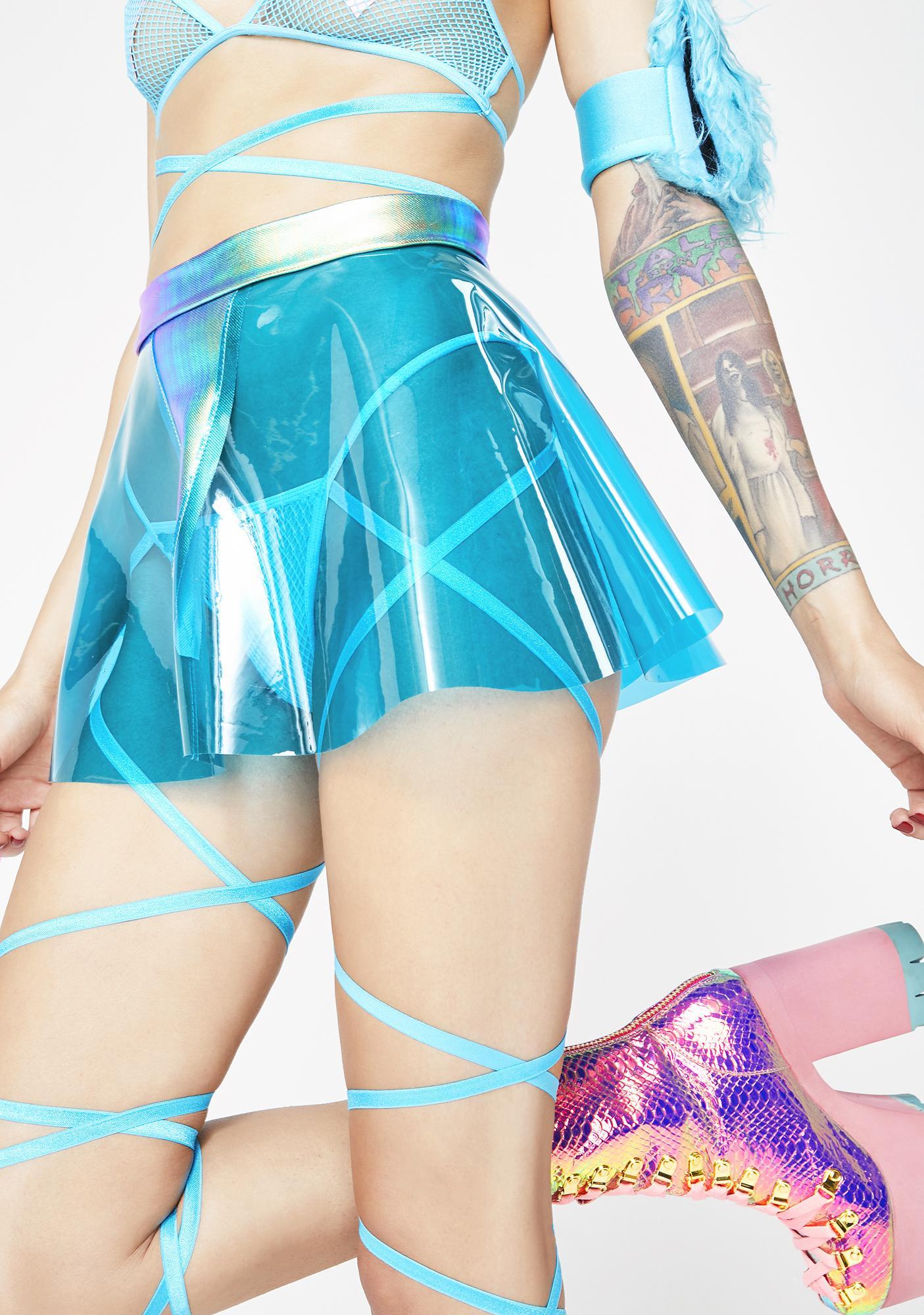 J Valentine Visualize Vinyl Mini Skirt