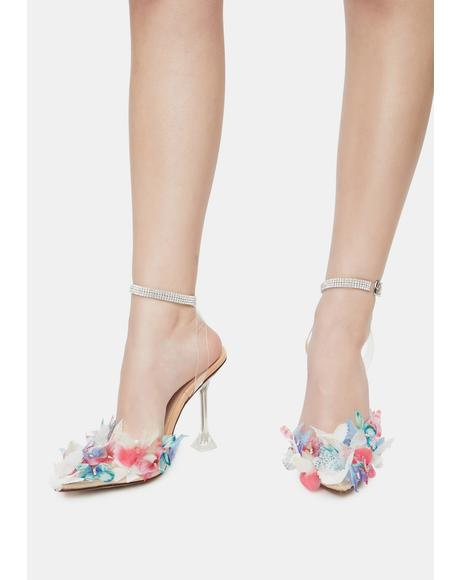 Multicolor Butterfly Stiletto Heels