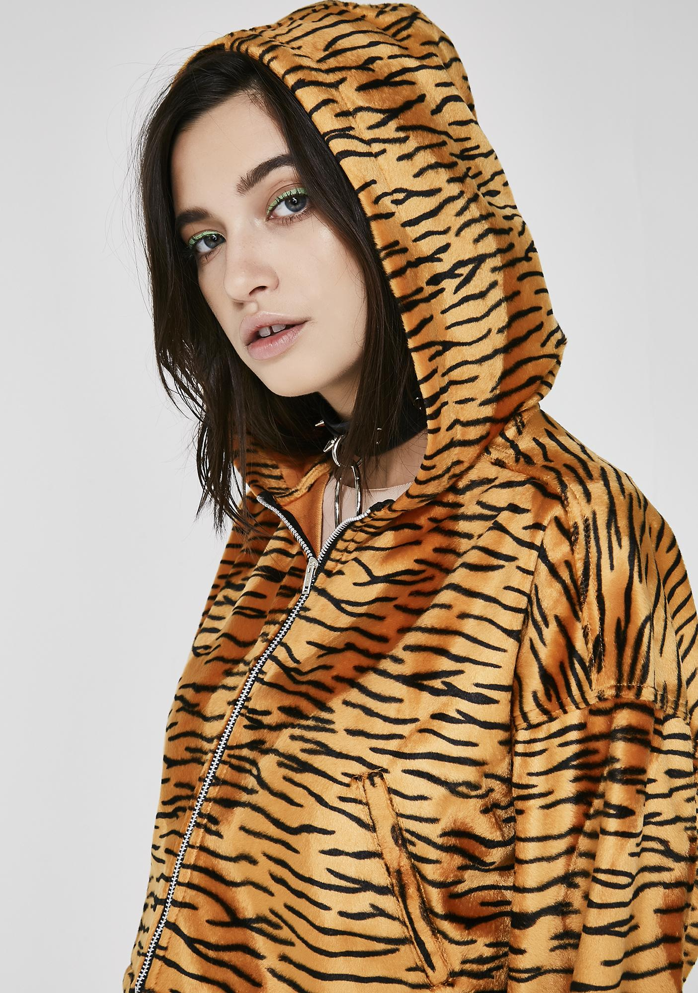 O Mighty Tiger Baby Cropped Hoodie