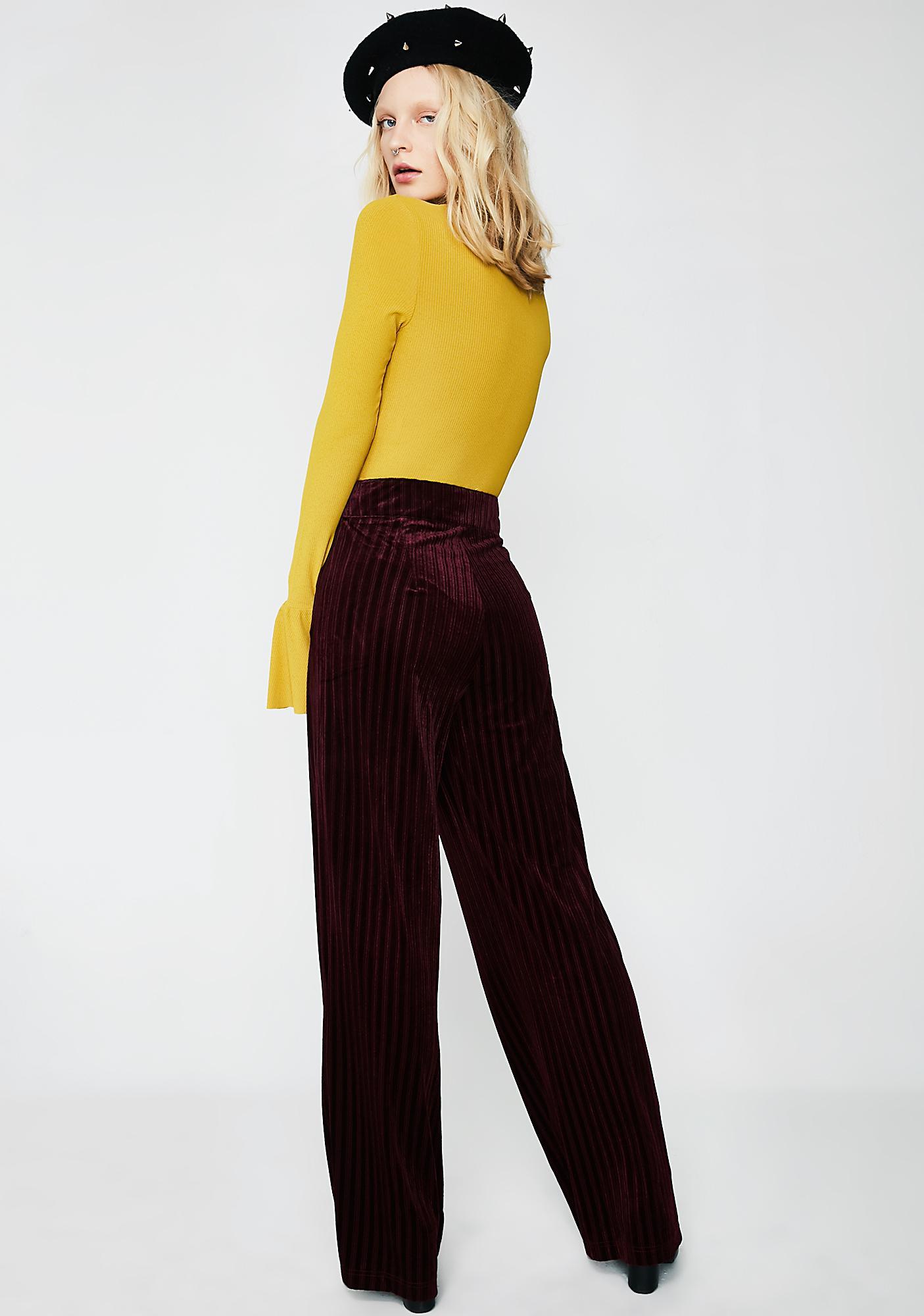 Now Or Never Velvet Pants