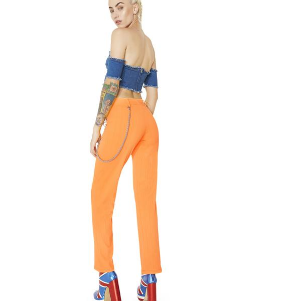 American Deadstock Radioactive Neon Ribbed Pants