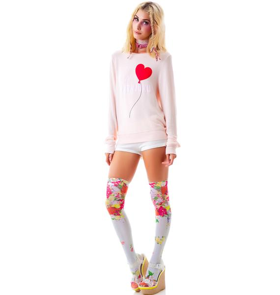 Wildfox Couture My Hearts In Harajuku Baggy Beach Jumper