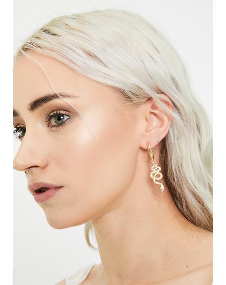 Hissy Drama Snake Earrings