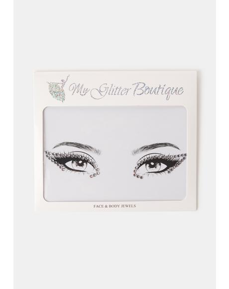 Clear Rhinestone Eye Gem Pack
