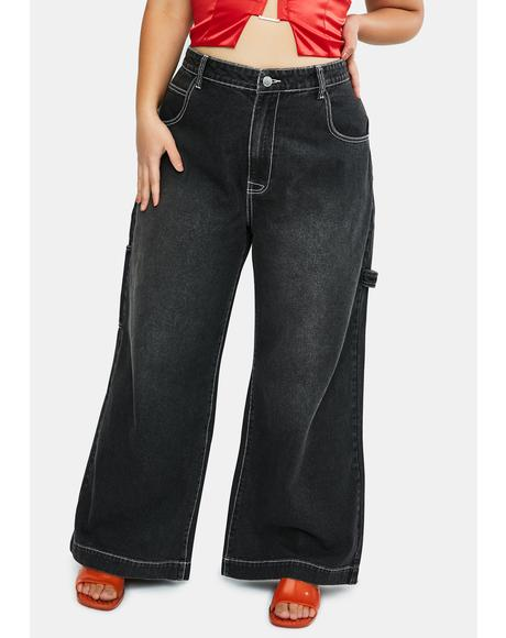 Major Homecoming Hex Wide Leg Jeans