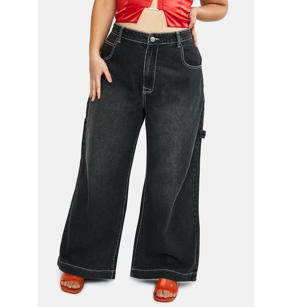 dELiA*s by Dolls Kill Major Homecoming Hex Wide Leg Jeans