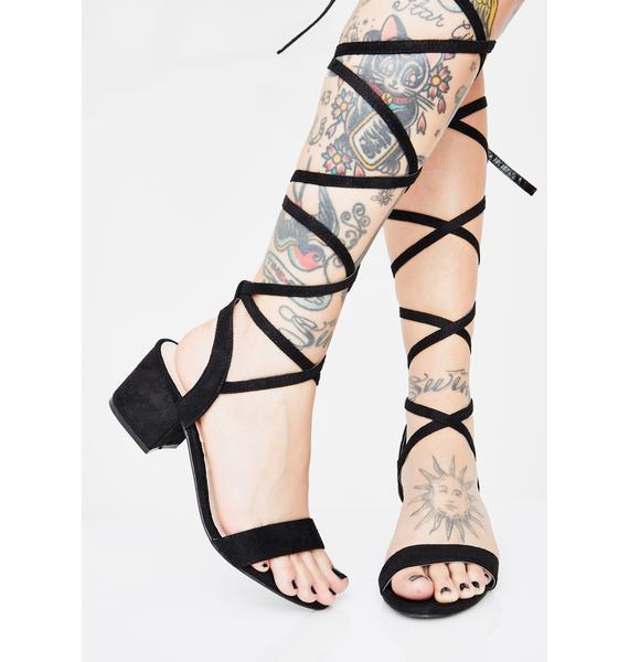 Midnight Style Maven Wrap Heels
